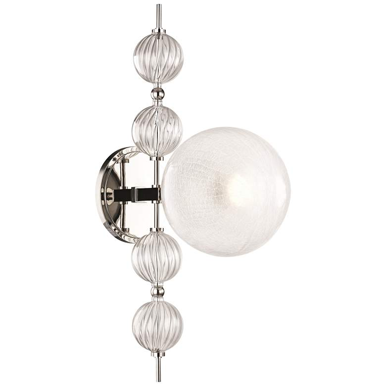 """Hudson Valley Calypso 22"""" High Polished Nickel Wall Sconce"""