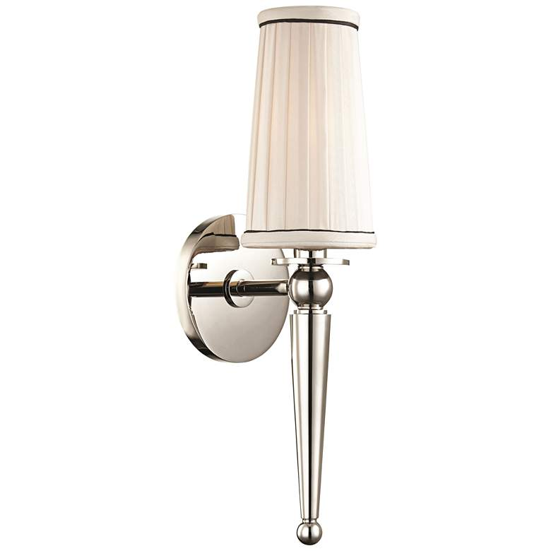 "Hudson Valley Cypress 15 3/4""H Polished Nickel Wall Sconce"