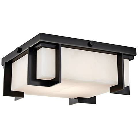 "Hudson Valley Delmar 10 1/4""W Old Bronze LED Ceiling Light"