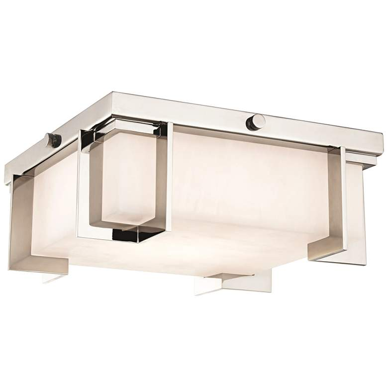 "Delmar 10 1/4"" Wide Polished Nickel LED Ceiling Light"