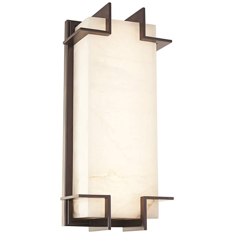 "Hudson Valley Delmar 14 3/4"" High Old Bronze LED Wall Sconce"
