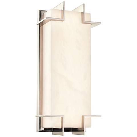 "Delmar 14 3/4"" High Polished Nickel LED Wall Sconce"