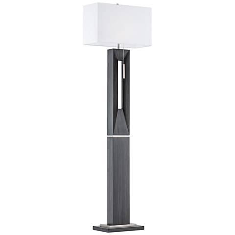 Nova Parallux Charcoal Gray Floor Lamp
