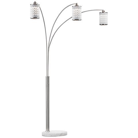 Nova Flora Weathered Brass Arc Floor Lamp