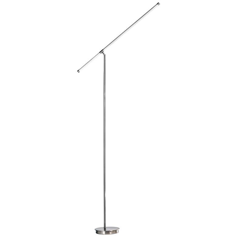 Nova Sentry Satin Nickel LED Floor Lamp