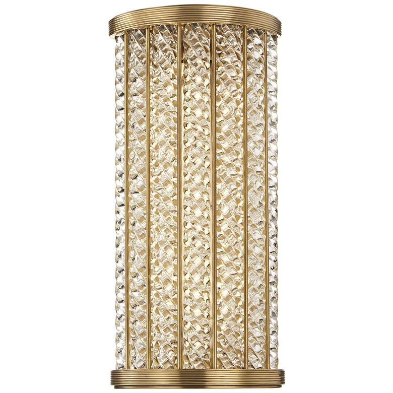 "Hudson Valley Shelby 14"" High Aged Brass LED Wall Sconce"