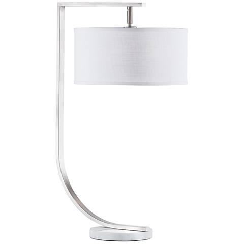 Nova Library Brushed Nickel Desk Lamp