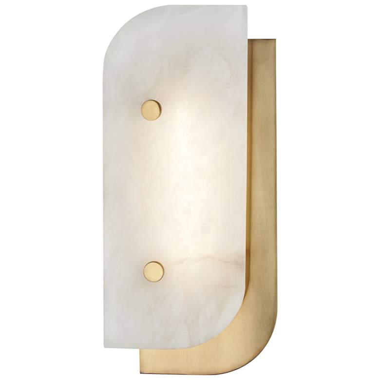 """Hudson Valley Yin and Yang 13""""H Aged Brass LED Wall Sconce"""