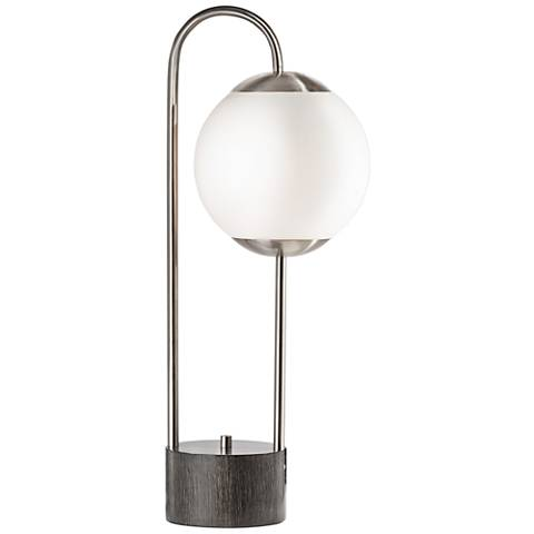Nova Globus Brushed Nickel Table Lamp