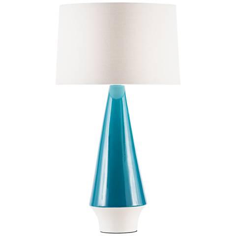 Nova Buoy Teal Ceramic Table Lamp