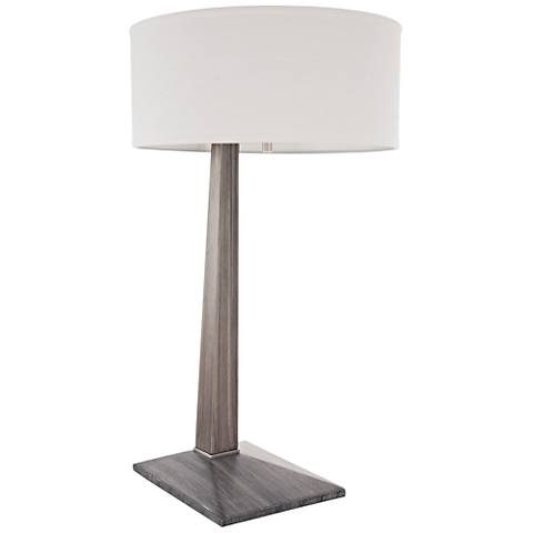 Nova Tilt Ash Gray Wood Table Lamp