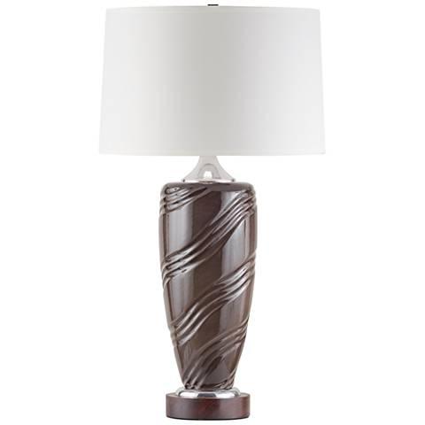 Nova Mar Vista Speckled Flint Ceramic Standing Table Lamp