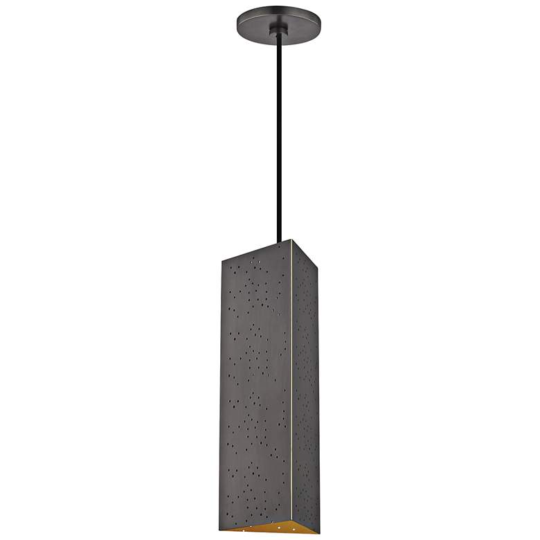 "Mitzi Aiko 5 1/4"" Wide Old Bronze LED Mini Pendant"