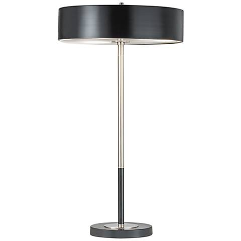 Nova Slim-Line Matte Black and Brushed Nickel Table Lamp