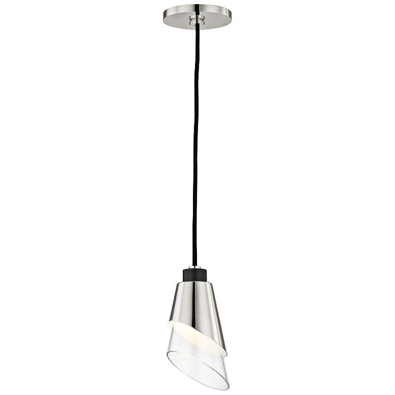 "Mitzi Angie 4 3/4"" Wide Polished Nickel LED"