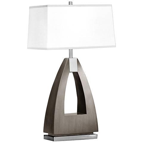 Nova Trina Charcoal Gray Wood Table Lamp