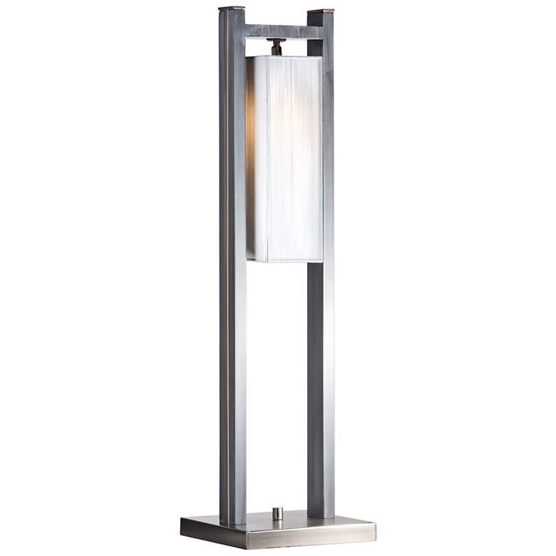 Nova Cascade Charcoal Gray Wood Table Lamp
