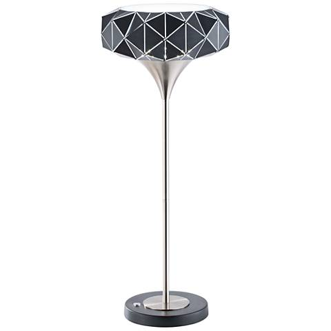 Nova Geodesia Brushed Nickel LED Table Lamp