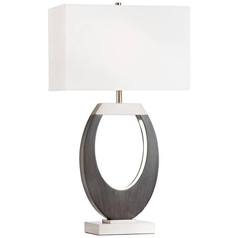 Nova Engagement Charcoal Gray Table Lamp w/ LED Night Light