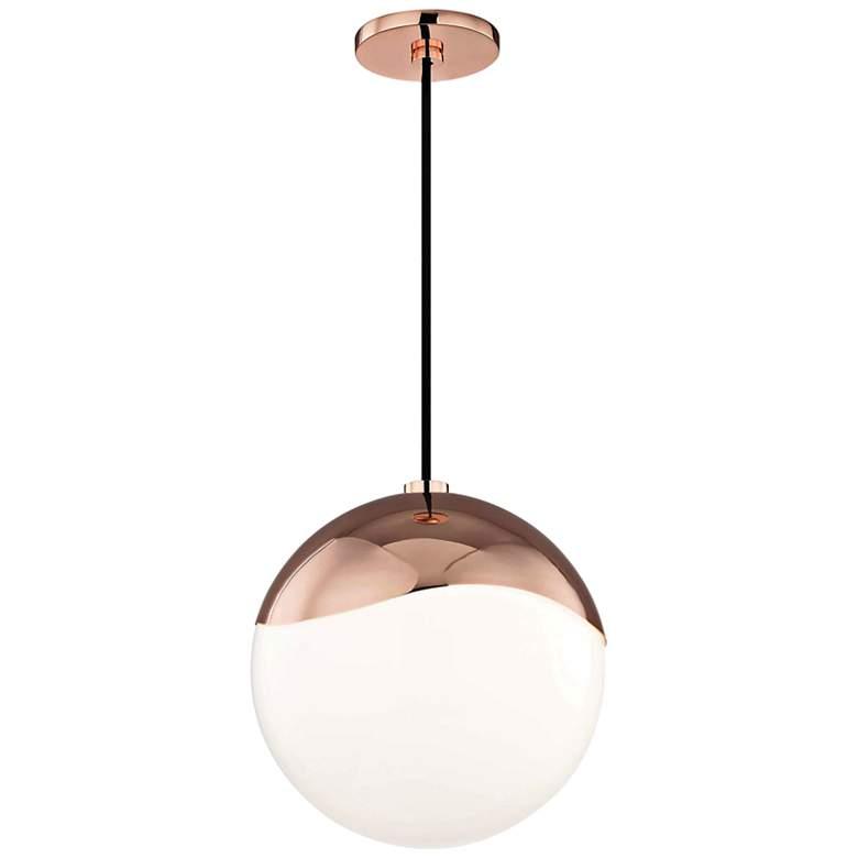 "Mitzi Ella 10 1/2"" Wide Polished Copper Mini Pendant"