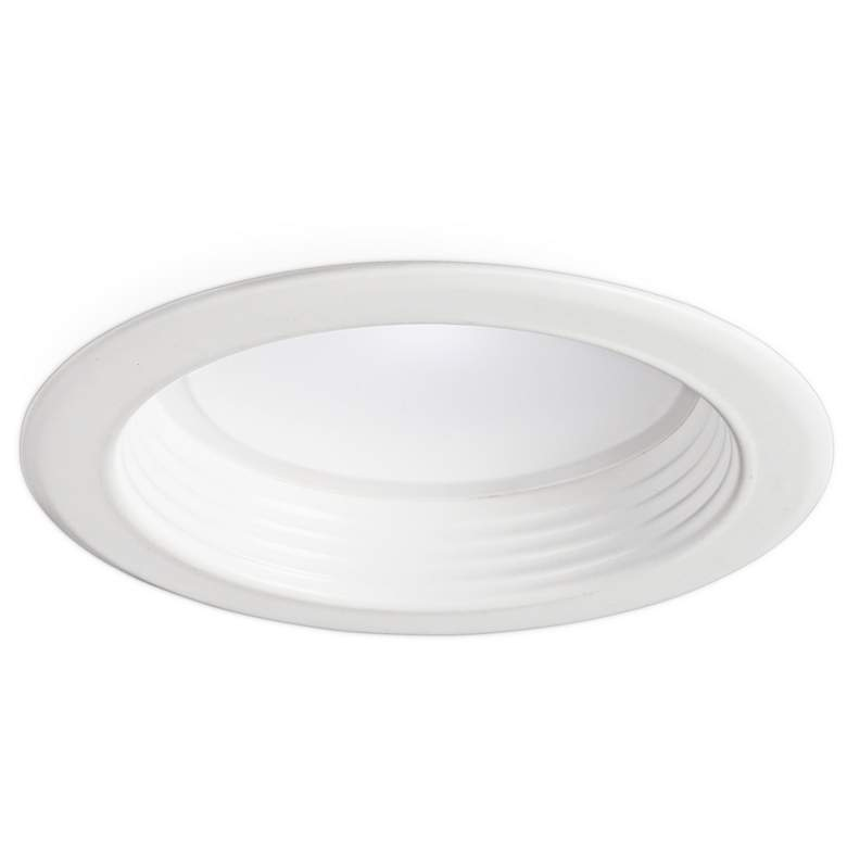 """4"""" White Baffle 10W Dimmable LED Retrofit Trim in White"""