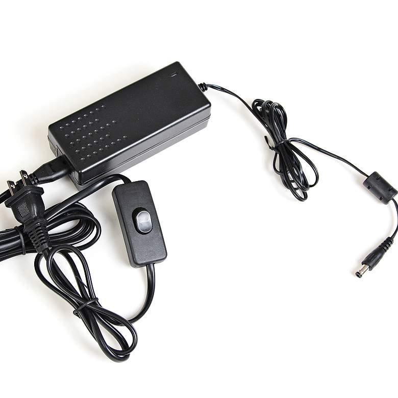 "Quantom 2.375"" Wide Black 12VDC 60W LED Plug-In Power Supply"