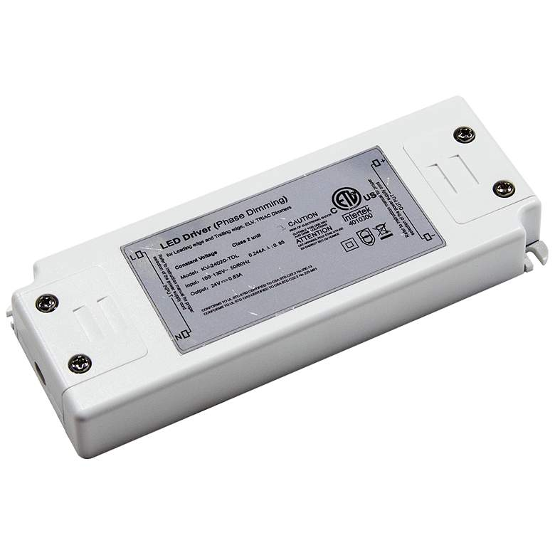 """Roswell 2.3"""" Wide White 12VDC 20W LED Dimmable"""
