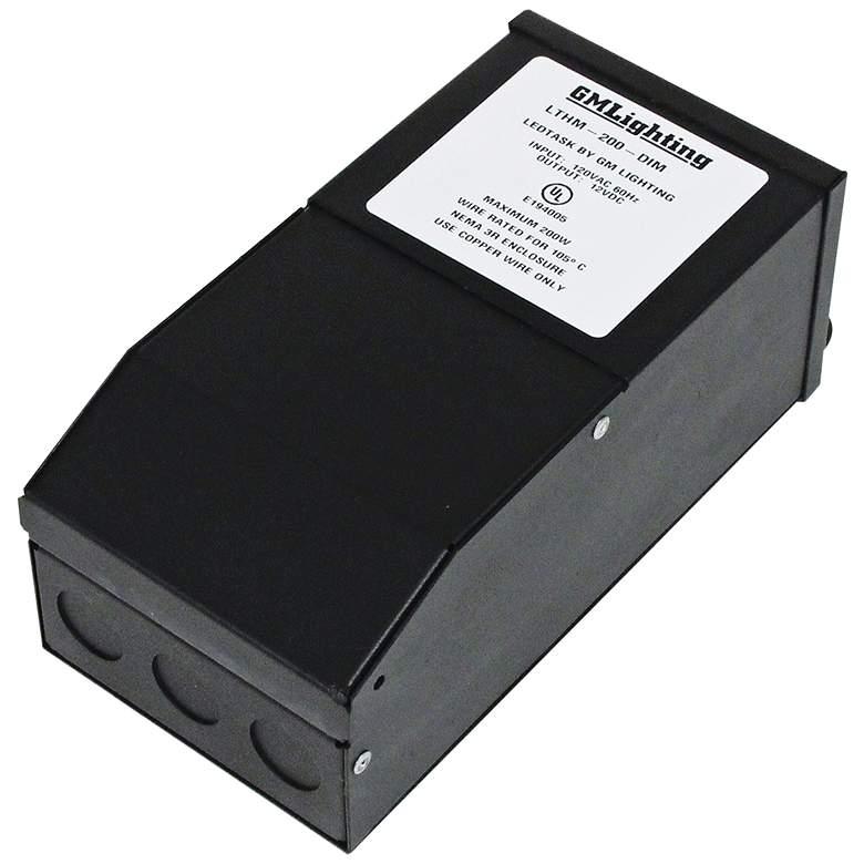 "Kelvin 4"" Wide Black 12V 200W LED Dimmable"