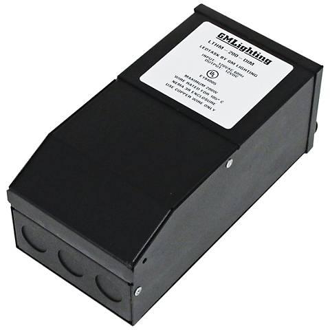 "Kelvin 4"" Wide Black 12V 200W LED Dimmable Power Supply"