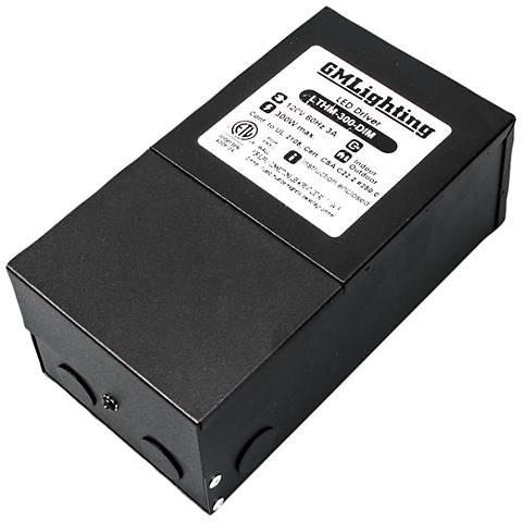 "Kelvin 4"" Wide Black 12V 300W LED Dimmable Power Supply"