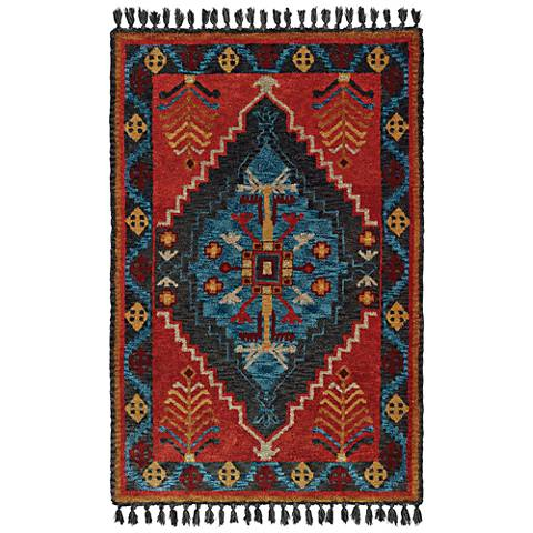 Madison 61403 Rust and Blue Area Rug