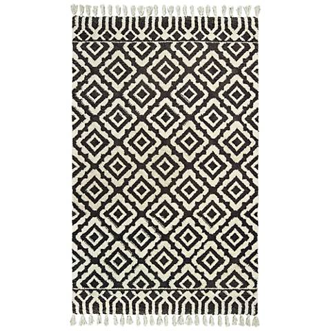 Madison 61406 Ivory and Brown Area Rug