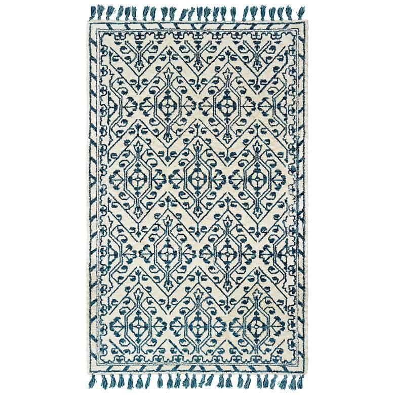 Madison 61408 5'x8' Ivory and Blue Area Rug