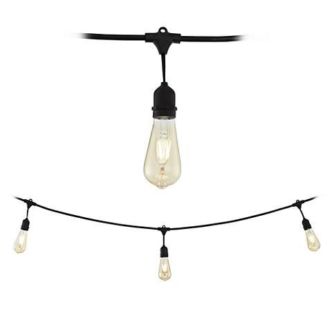 Vintage Series Commercial 24-Light Black String Light Set