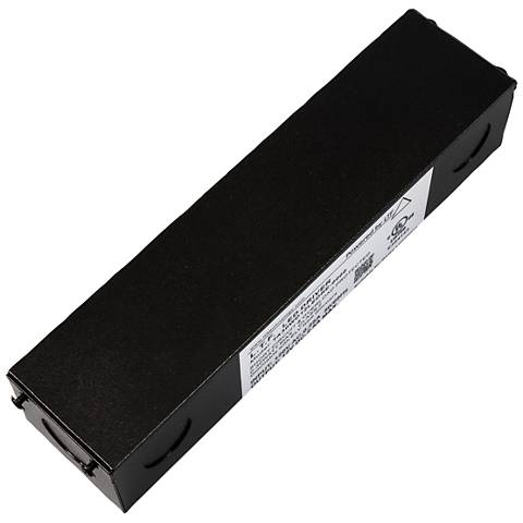 """SlimEdge™ 2"""" Wide Black 12VDC 30W LED Dimmable Power Supply"""