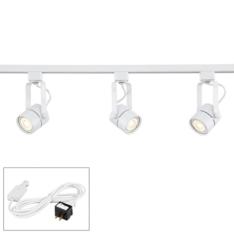 Linear 3-Light White LED Bullet Track Kit w/