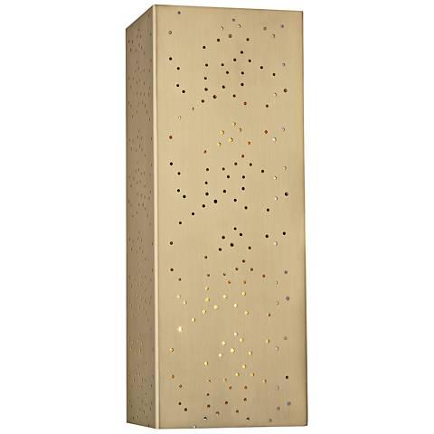 "Mitzi Aiko 14 3/4"" High Aged Brass Wall Sconce"