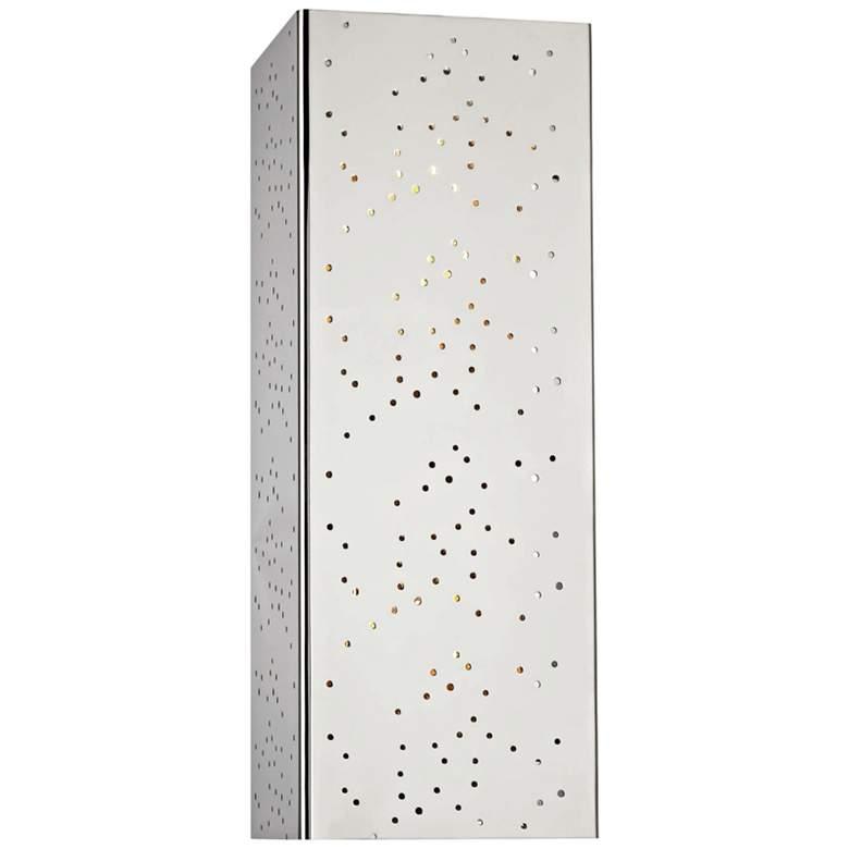 "Mitzi Aiko 14 3/4"" High Polished Nickel Wall Sconce"