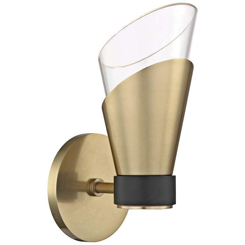 """Mitzi Angie 9 3/4"""" High Aged Brass LED Wall Sconce"""