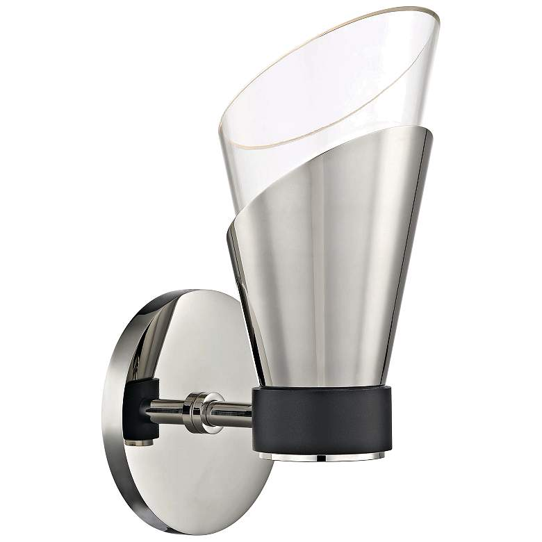 """Mitzi Angie 9 3/4"""" High Polished Nickel LED Wall Sconce"""