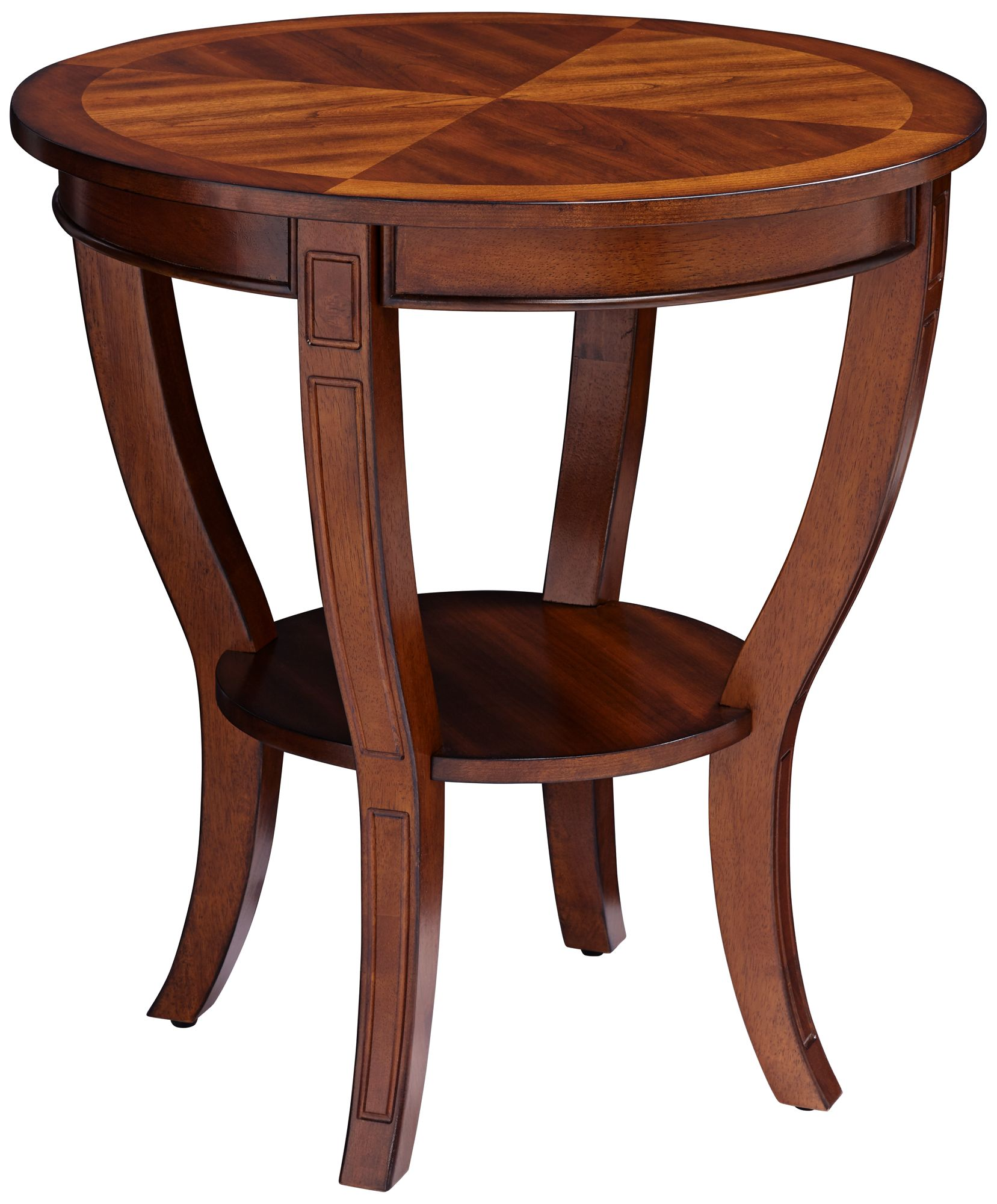 Patterson II Americana Cherry Round Wood End Table