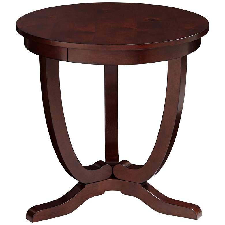 "Nash-II 24"" Wide Espresso Round Accent Table"