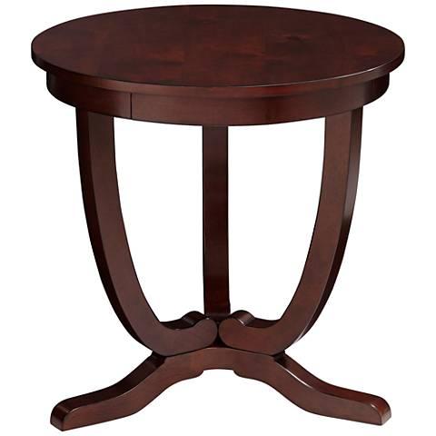 Nash II Espresso Round Accent Table