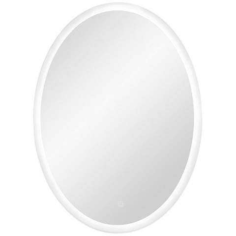 """George Kovacs Sassa 16 1/2"""" x 31 1/2"""" LED Wall Mirror"""