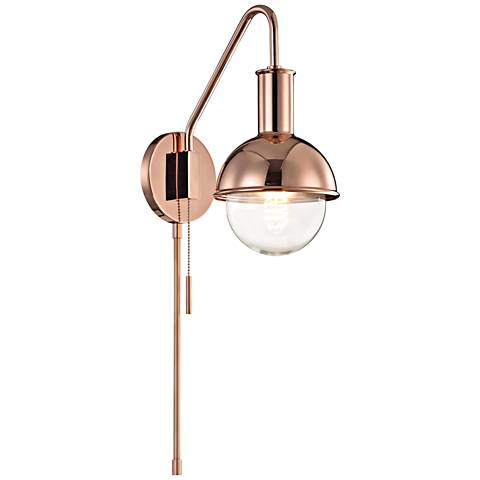 Mitzi Riley Polished Copper Swing Arm Wall Lamp