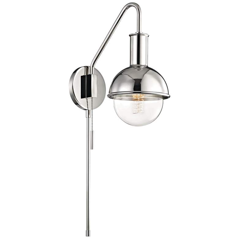 Mitzi Riley Polished Nickel Swing Arm Wall Lamp