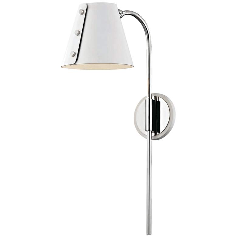 Mitzi Meta Polished Nickel and White LED Swing Arm Wall Lamp