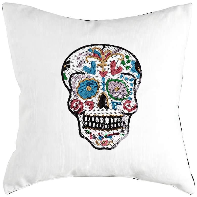 Day of the Dead Sugar Skull Decorative Pillow