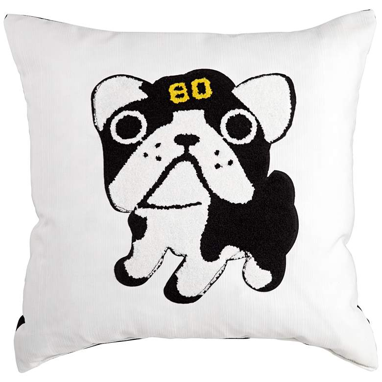 """Giclee Good Boy Black and White 18"""" Decorative Pillow"""