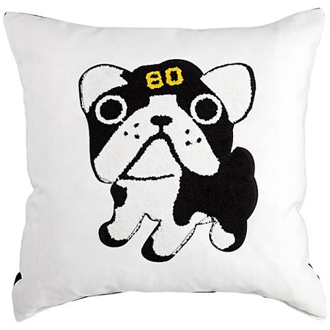 "Giclee Good Boy Black and White 18"" Decorative Pillow"